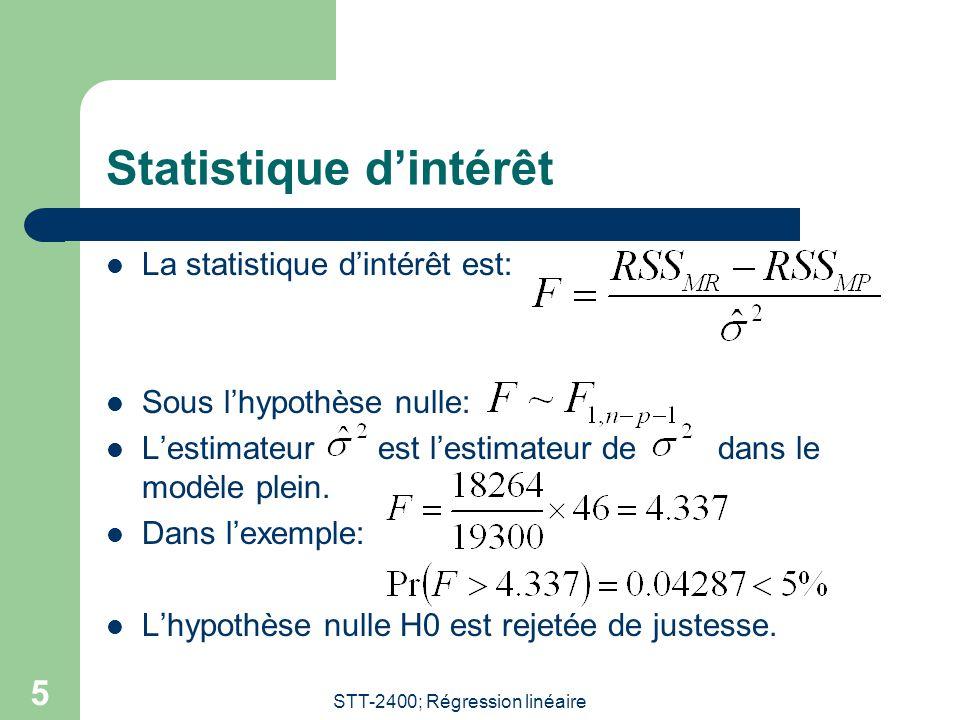 Statistique d'intérêt