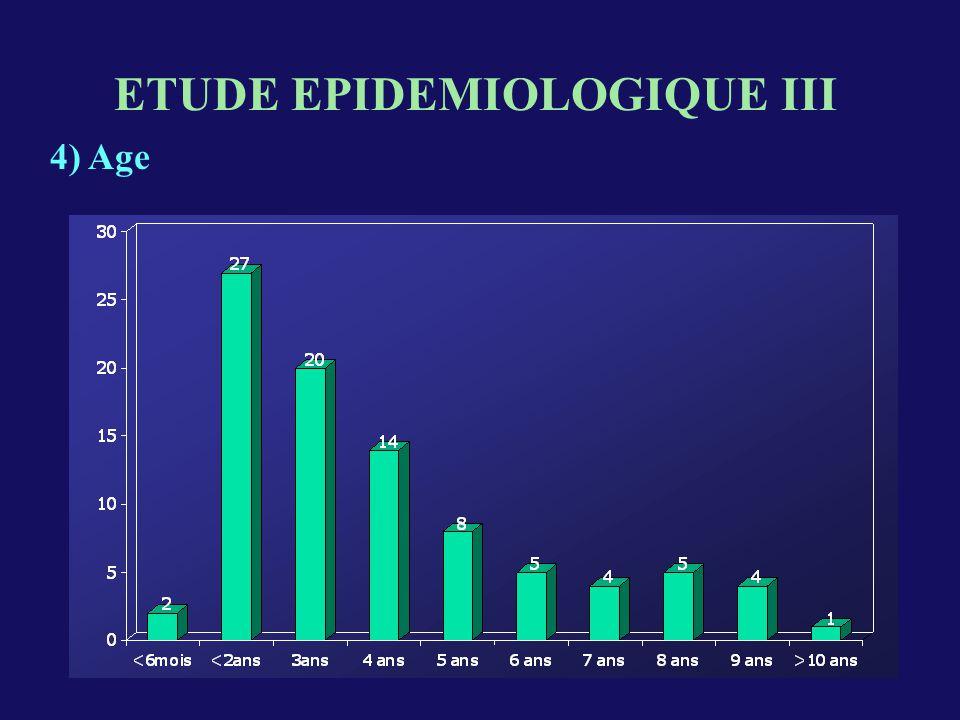 ETUDE EPIDEMIOLOGIQUE III