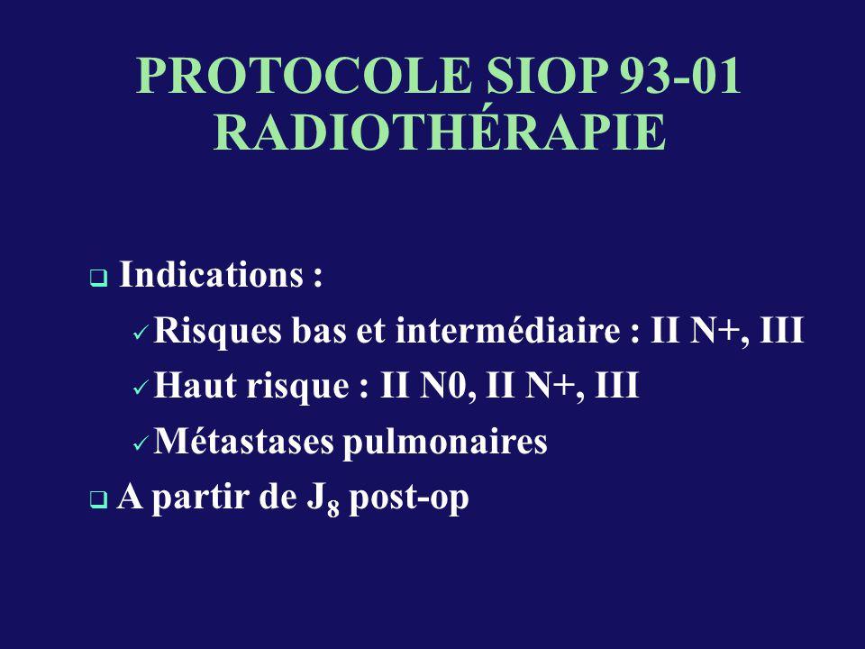 PROTOCOLE SIOP 93-01 RADIOTHÉRAPIE