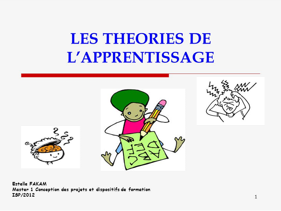 LES THEORIES DE L'APPRENTISSAGE