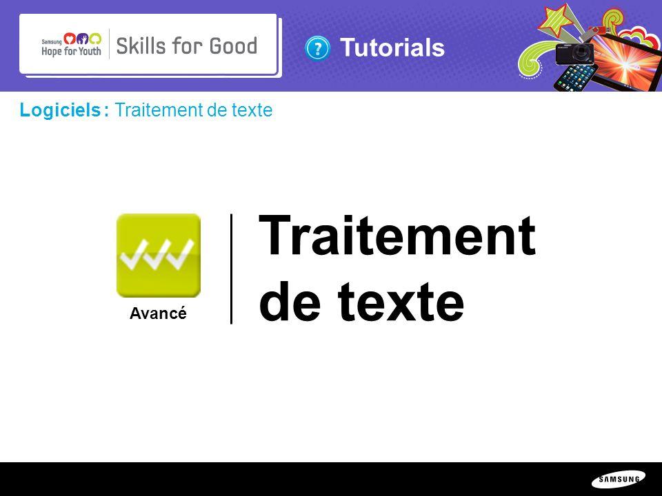 Traitement de texte Logiciels : Traitement de texte Avancé