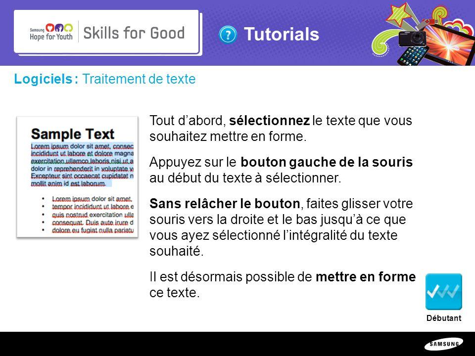 Logiciels : Traitement de texte