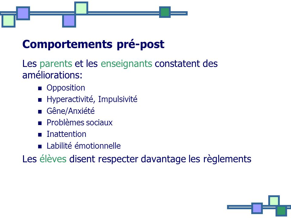 Comportements pré-post