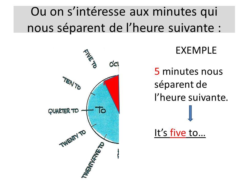 Ou on s'intéresse aux minutes qui nous séparent de l'heure suivante :