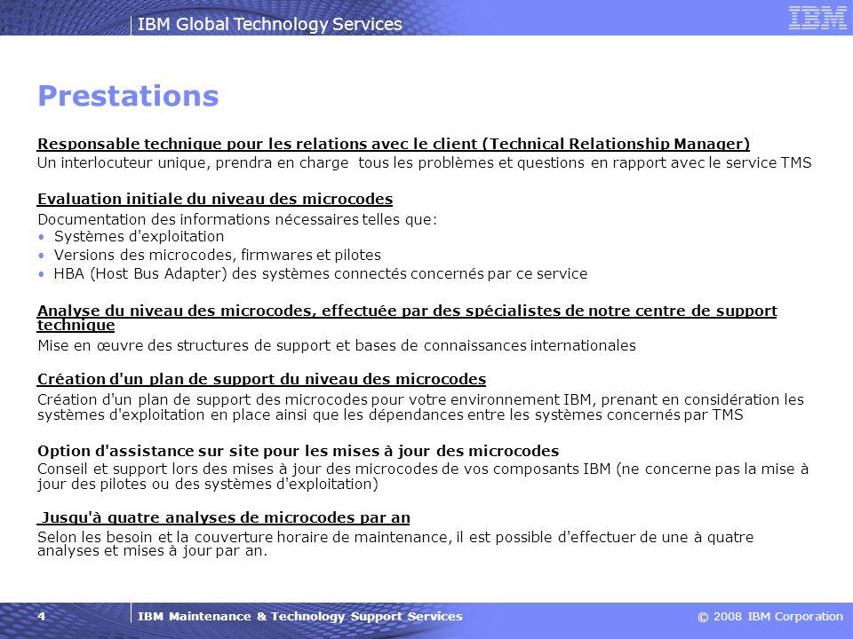 PrestationsResponsable technique pour les relations avec le client (Technical Relationship Manager)