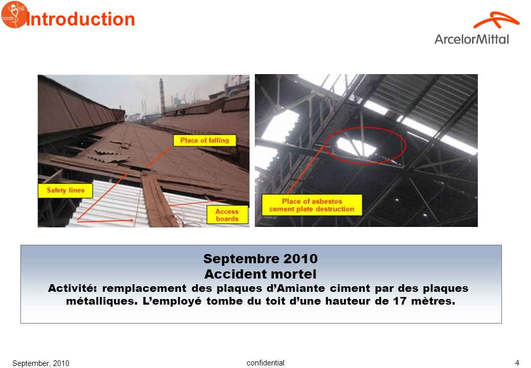 Introduction Septembre 2010 Accident mortel
