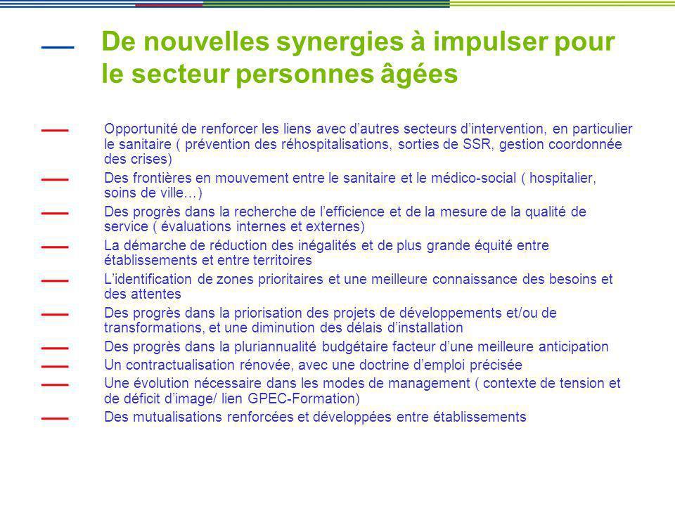 De nouvelles synergies à impulser pour le secteur personnes âgées