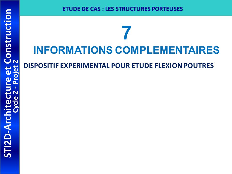 7 INFORMATIONS COMPLEMENTAIRES STI2D-Architecture et Construction