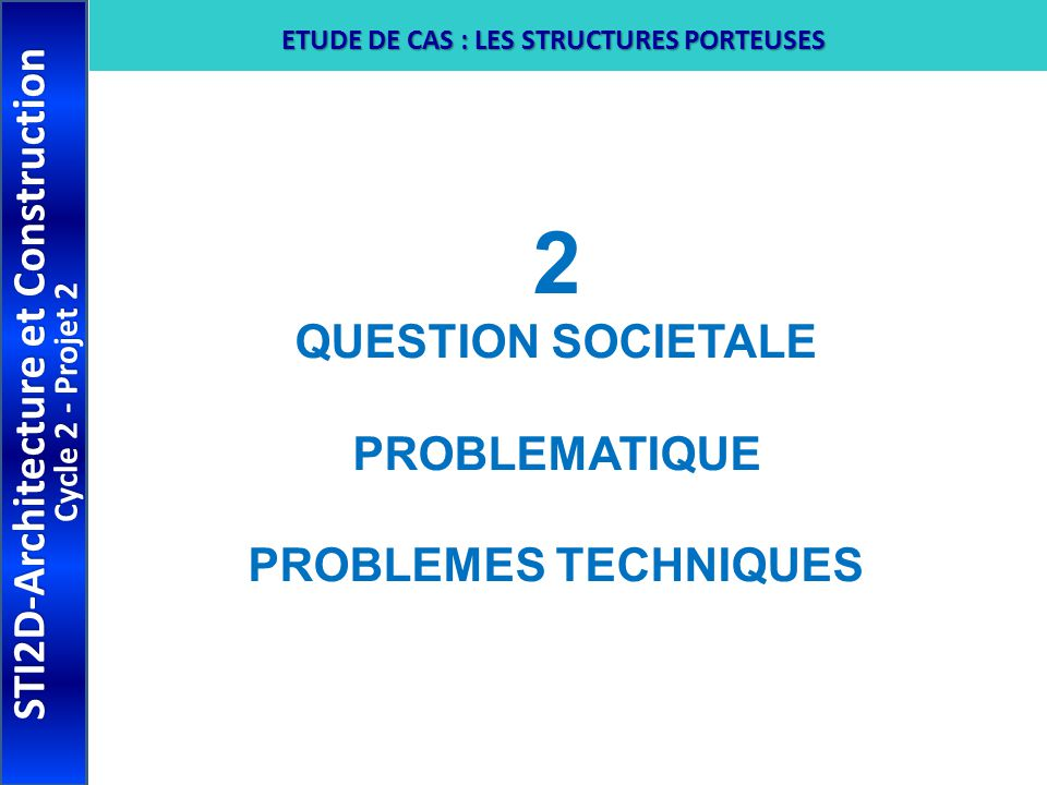 2 STI2D-Architecture et Construction QUESTION SOCIETALE PROBLEMATIQUE