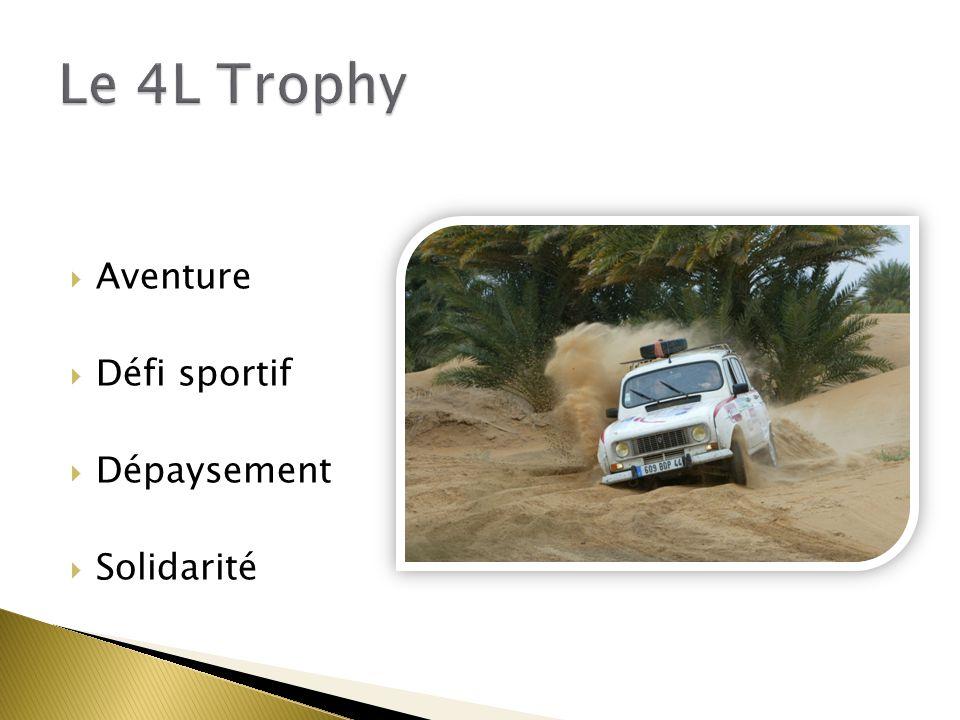 Le 4L Trophy Aventure Défi sportif Dépaysement Solidarité Benj