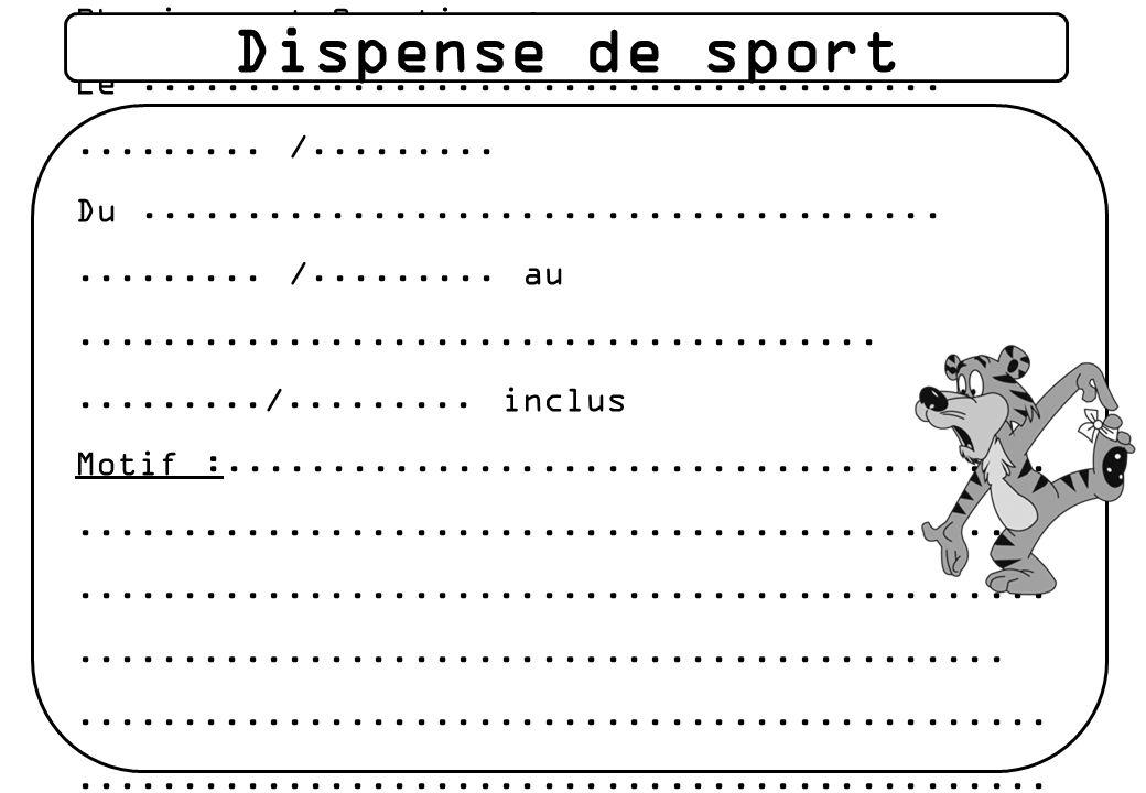 Dispense de sport