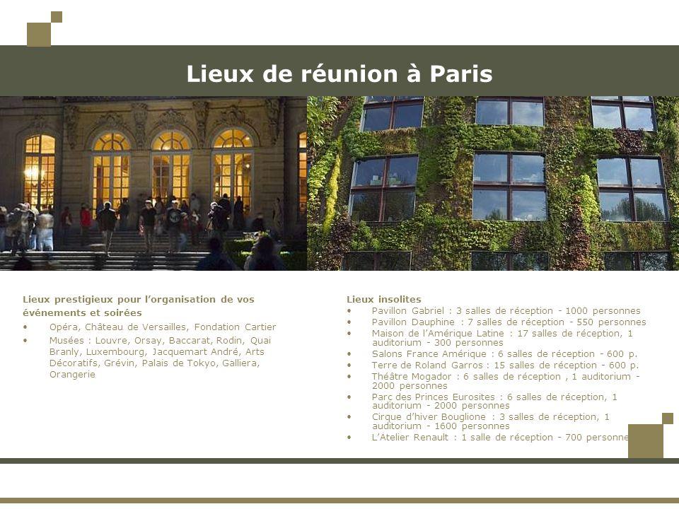 Lieux de réunion à Paris