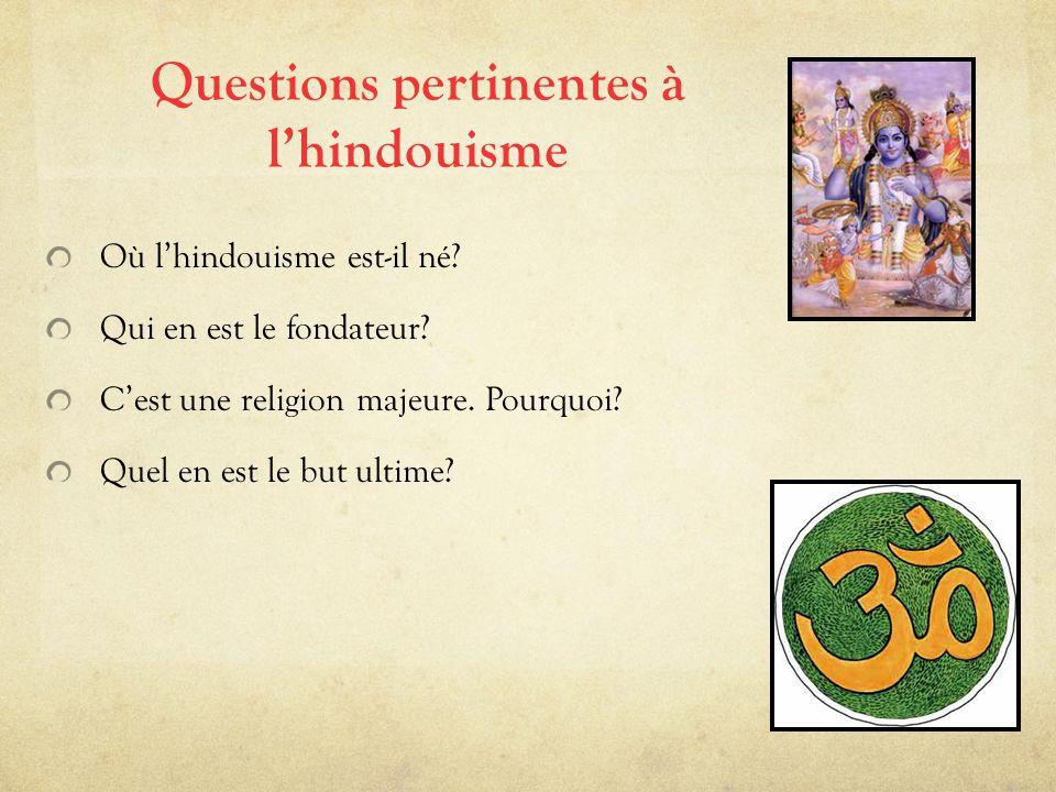Questions pertinentes à l'hindouisme