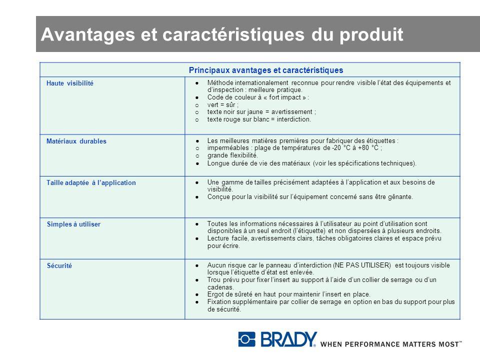 Avantages et caractéristiques du produit