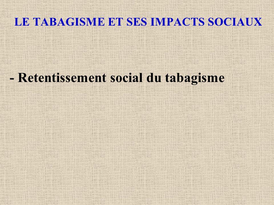 LE TABAGISME ET SES IMPACTS SOCIAUX