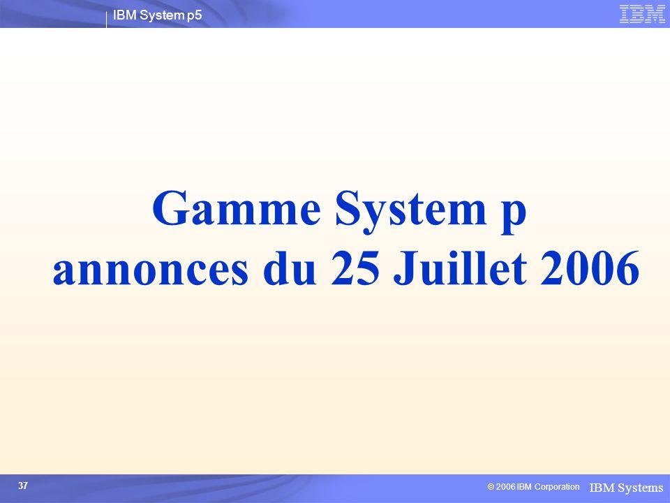 Gamme System p annonces du 25 Juillet 2006