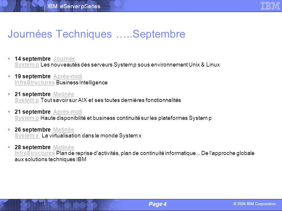 Journées Techniques …..Septembre