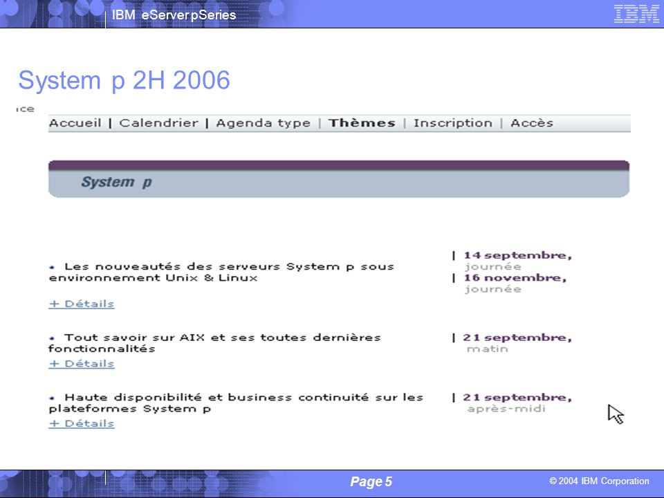 System p 2H 2006