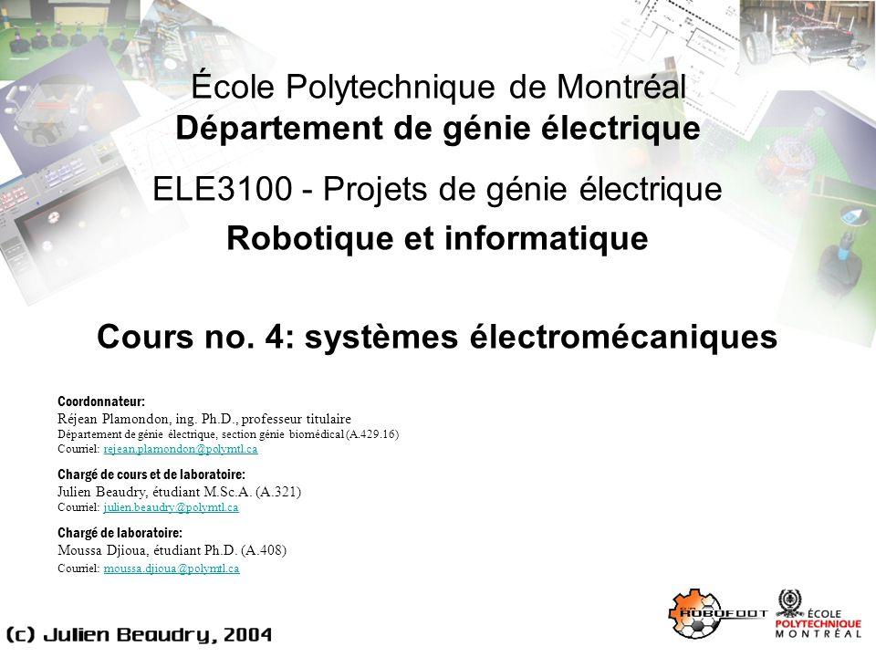 École Polytechnique de Montréal Département de génie électrique