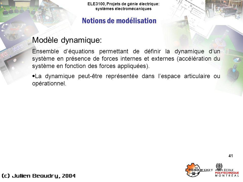 ELE3100, Projets de génie électrique: systèmes électromécaniques