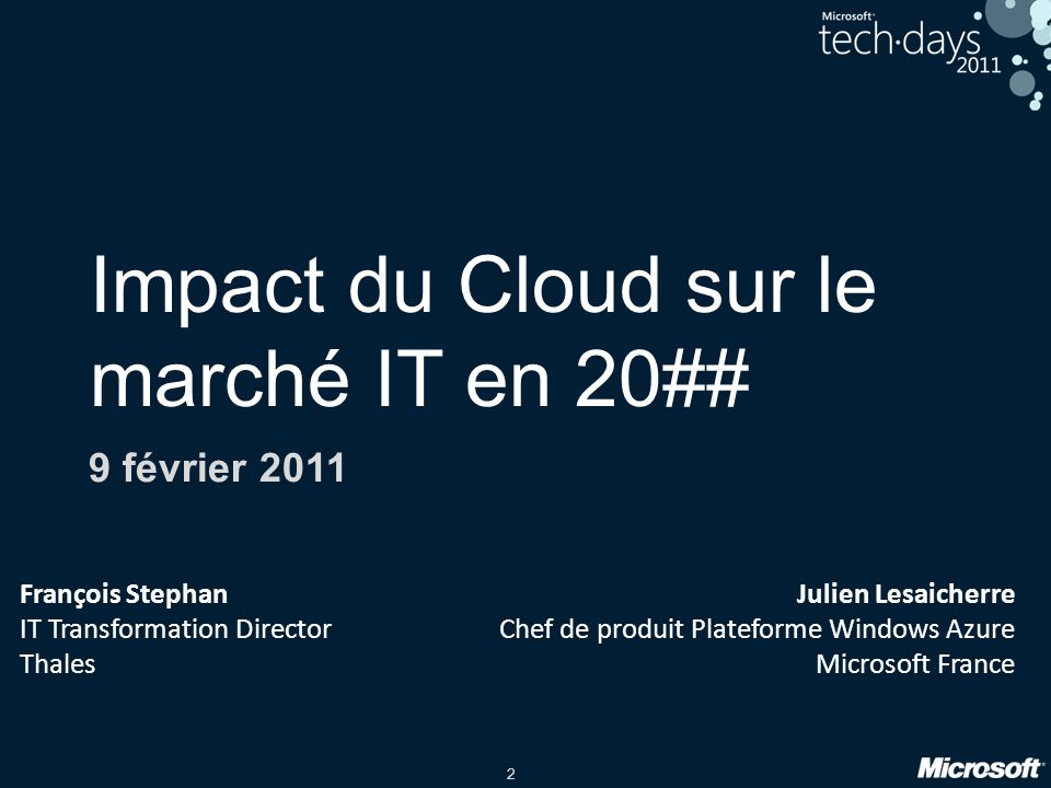 Impact du Cloud sur le marché IT en 20##