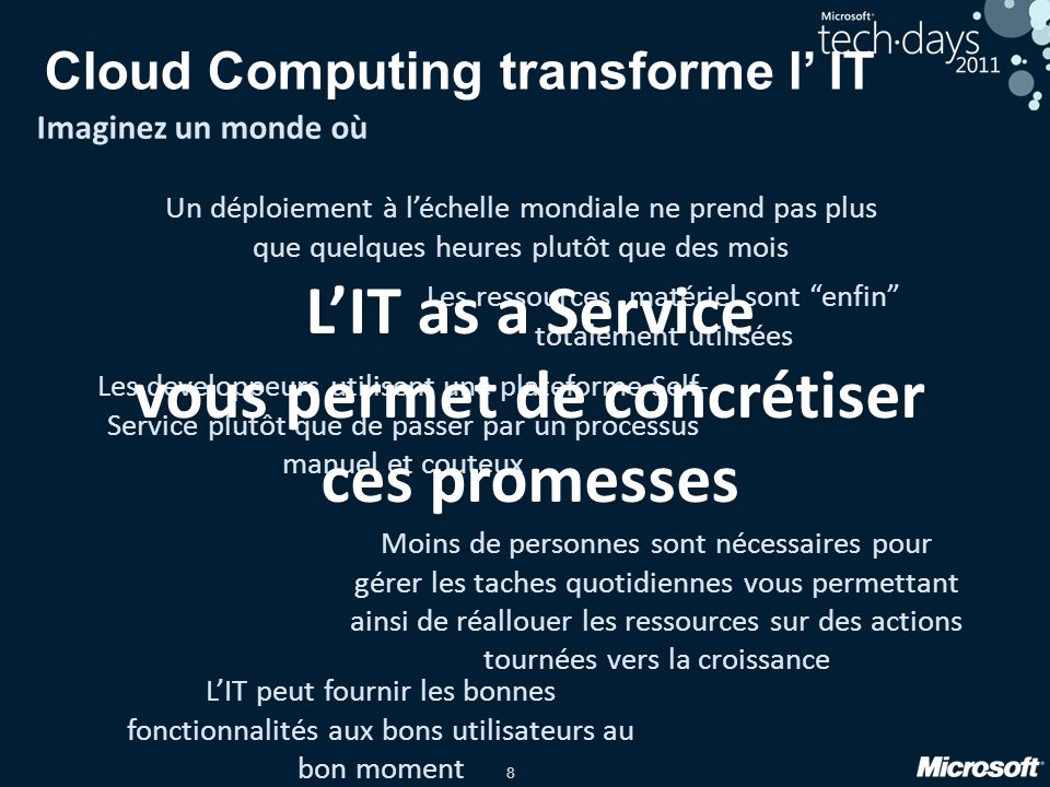 Cloud Computing transforme l' IT