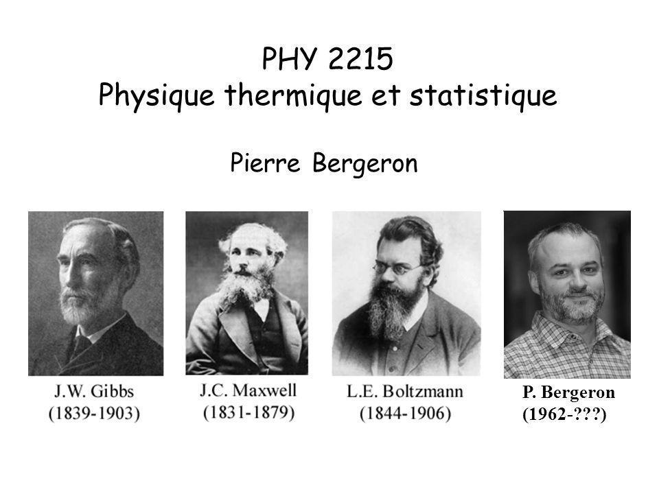 Physique thermique et statistique