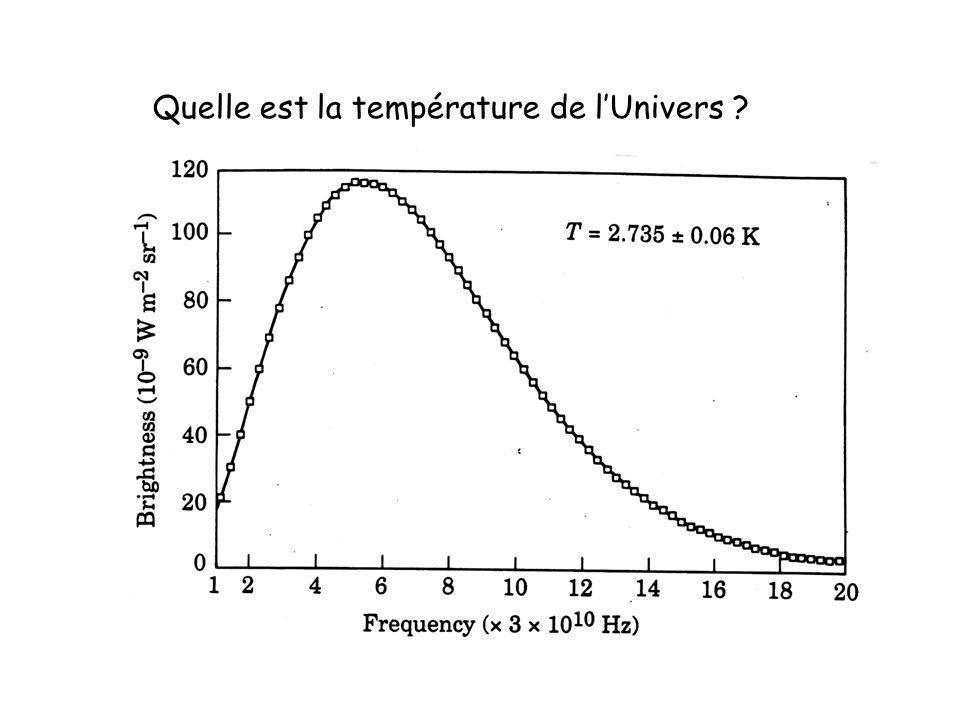 Quelle est la température de l'Univers
