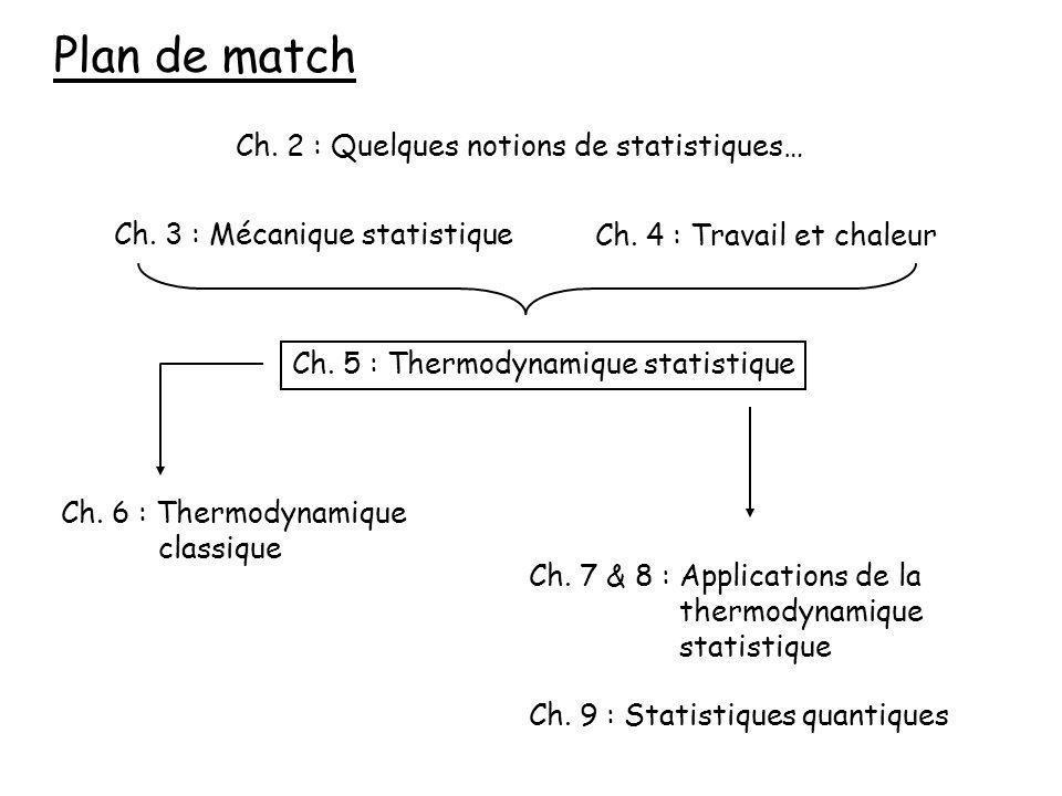 Plan de match Ch. 2 : Quelques notions de statistiques…