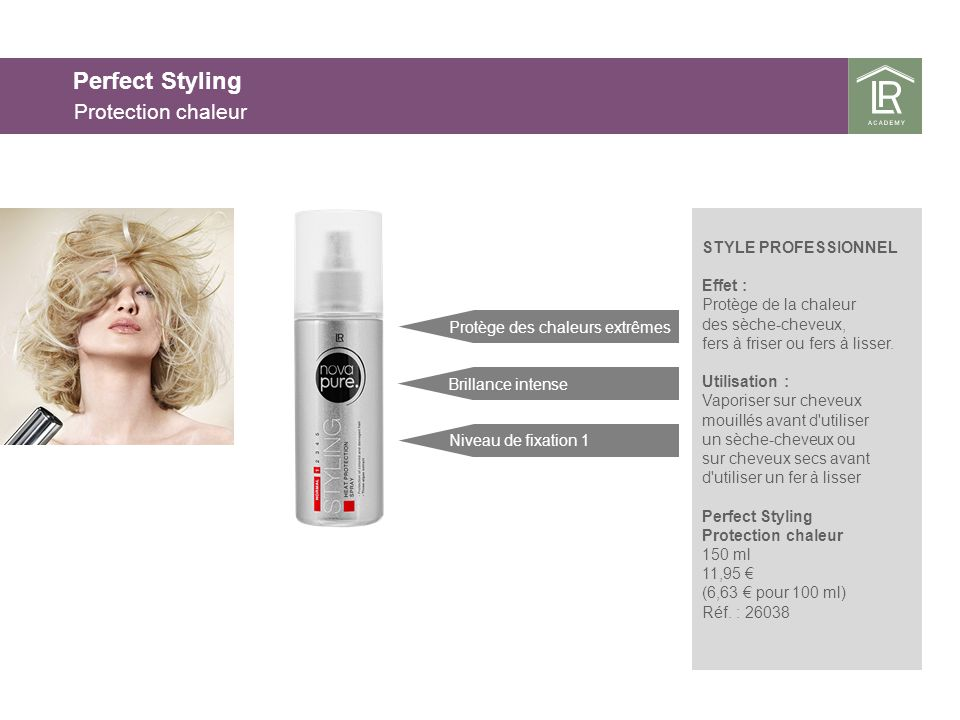 Perfect Styling Protection chaleur 25.03.2017 25.03.2017