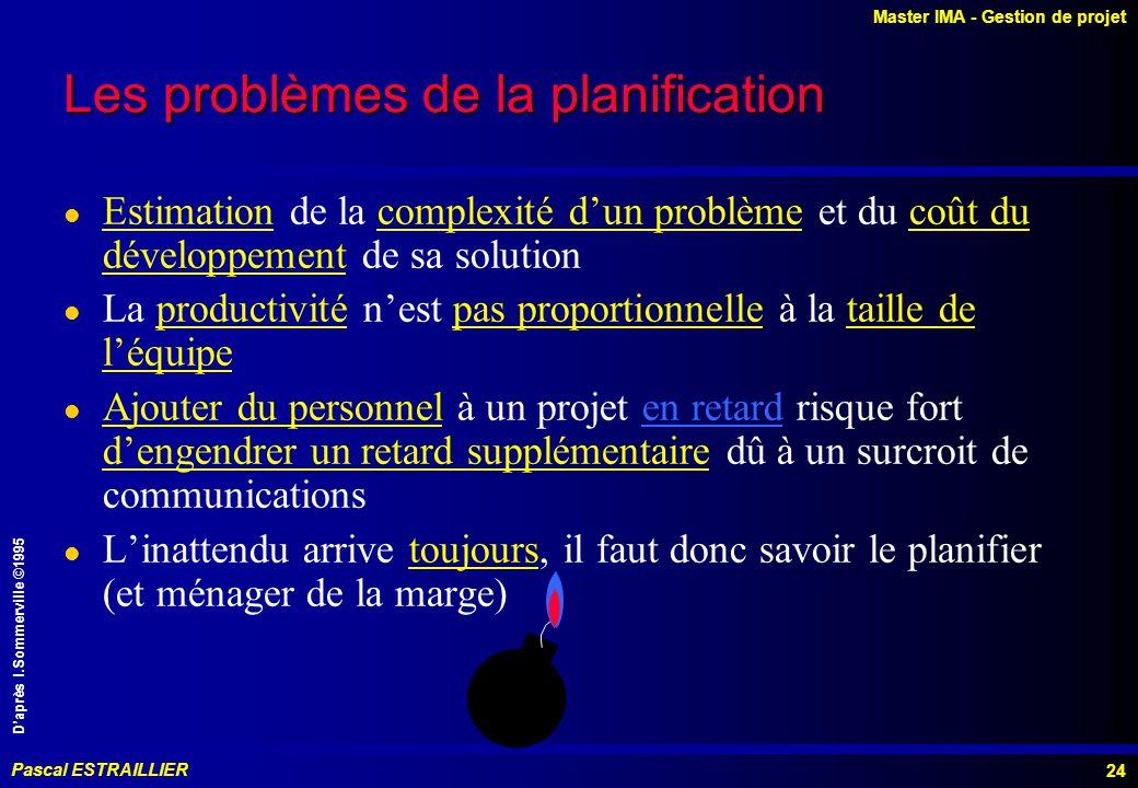 Les problèmes de la planification