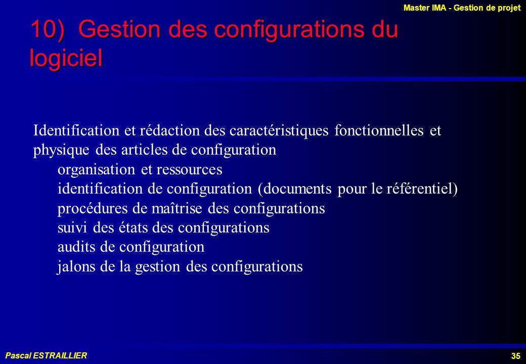 10) Gestion des configurations du logiciel