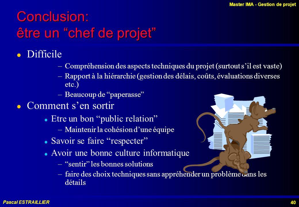 Conclusion: être un chef de projet