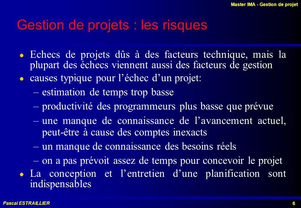 Gestion de projets : les risques