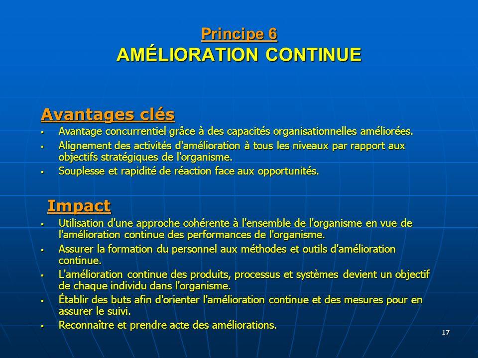 Principe 6 AMÉLIORATION CONTINUE