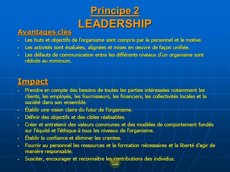 Principe 2 LEADERSHIP Impact Avantages clés