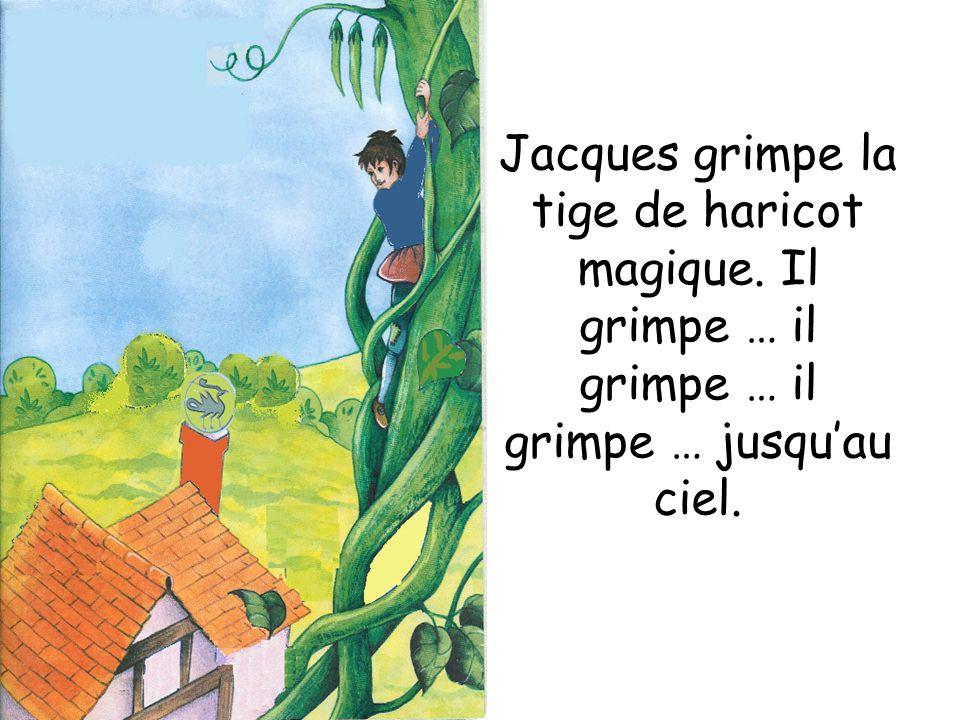 Jacques grimpe la tige de haricot magique