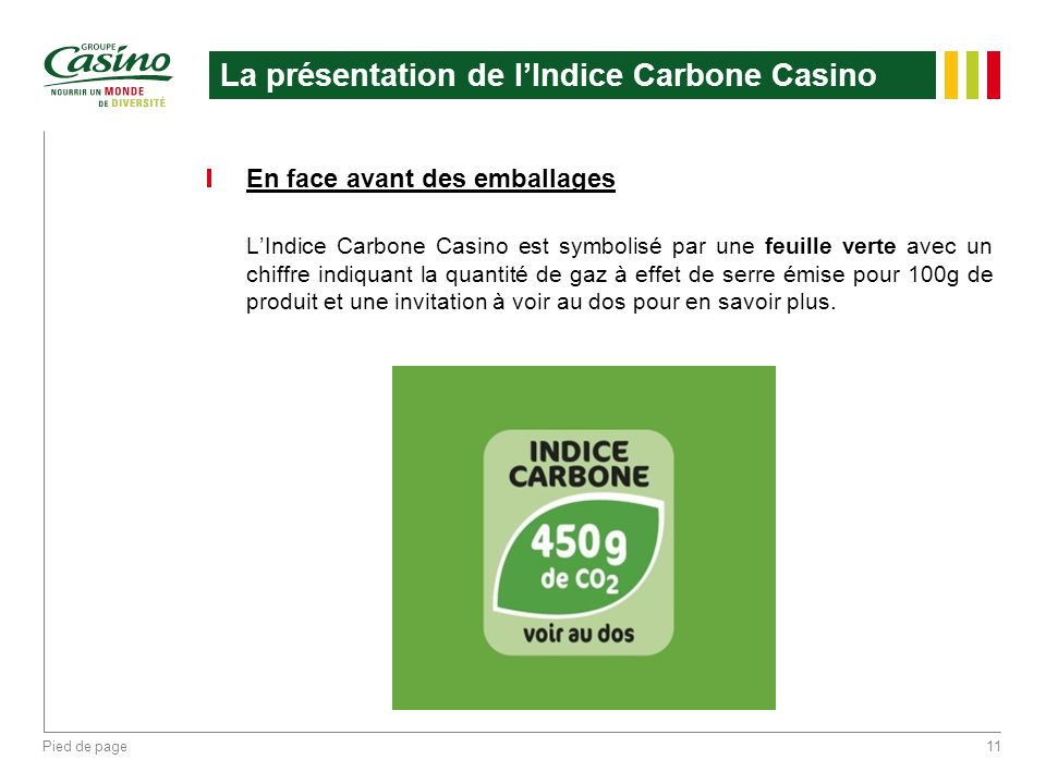 La présentation de l'Indice Carbone Casino