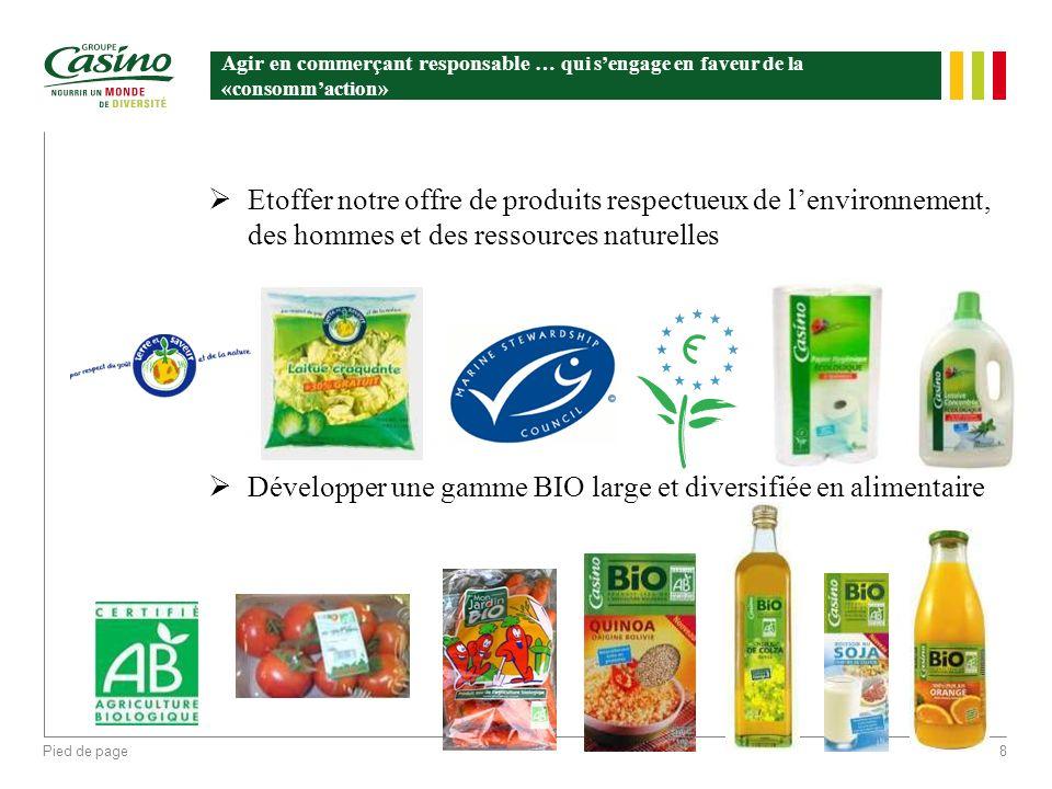 Développer une gamme BIO large et diversifiée en alimentaire