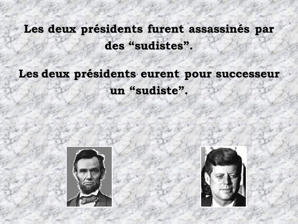 Les deux présidents furent assassinés par