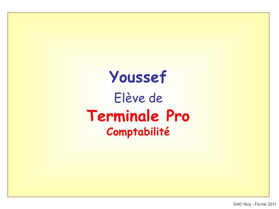 Youssef Elève de Terminale Pro Comptabilité