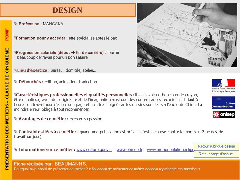 Retour rubrique design