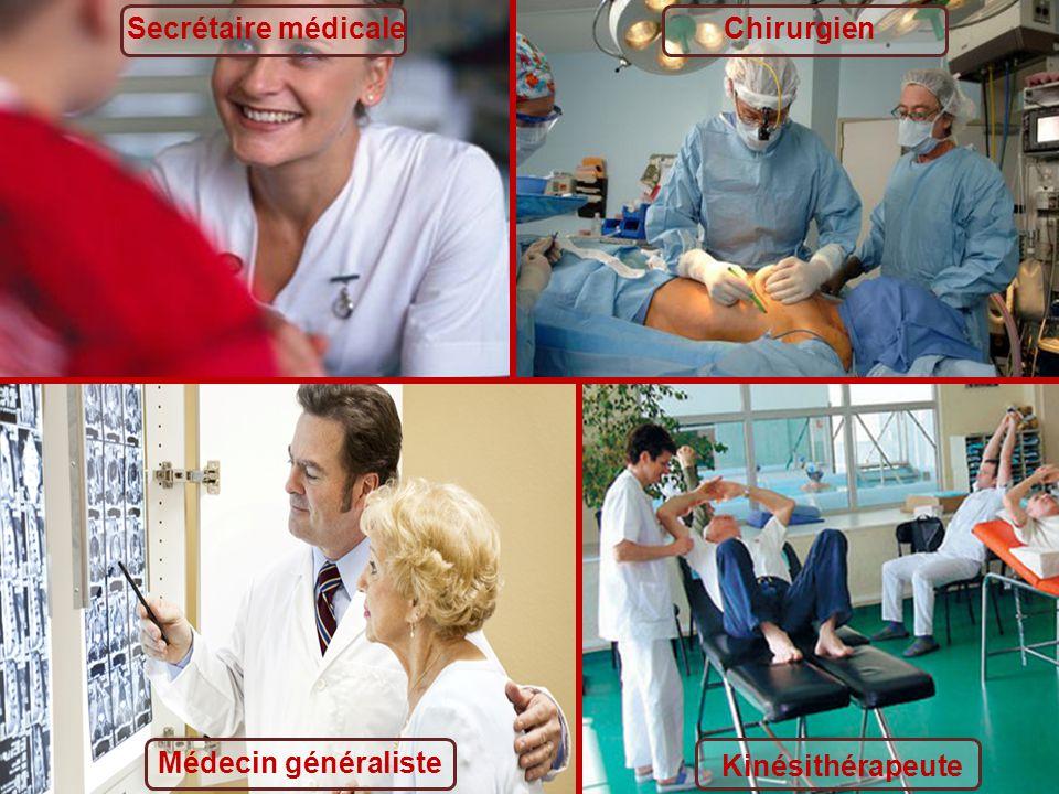 Secrétaire médicale Chirurgien Médecin généraliste Kinésithérapeute