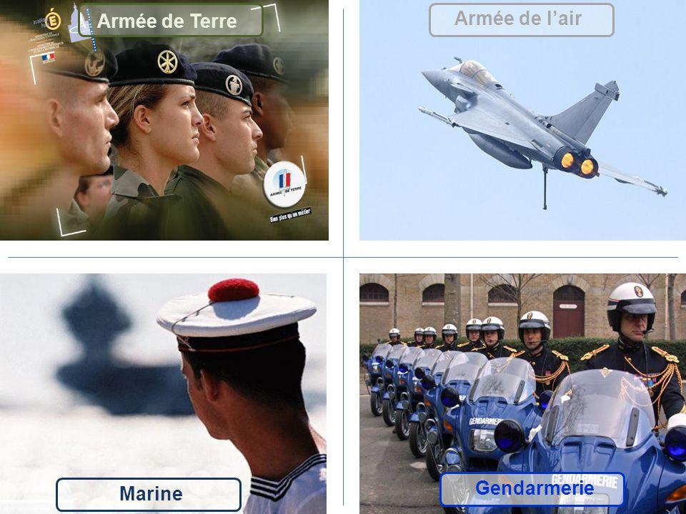 Armée de Terre Armée de l'air Gendarmerie Marine