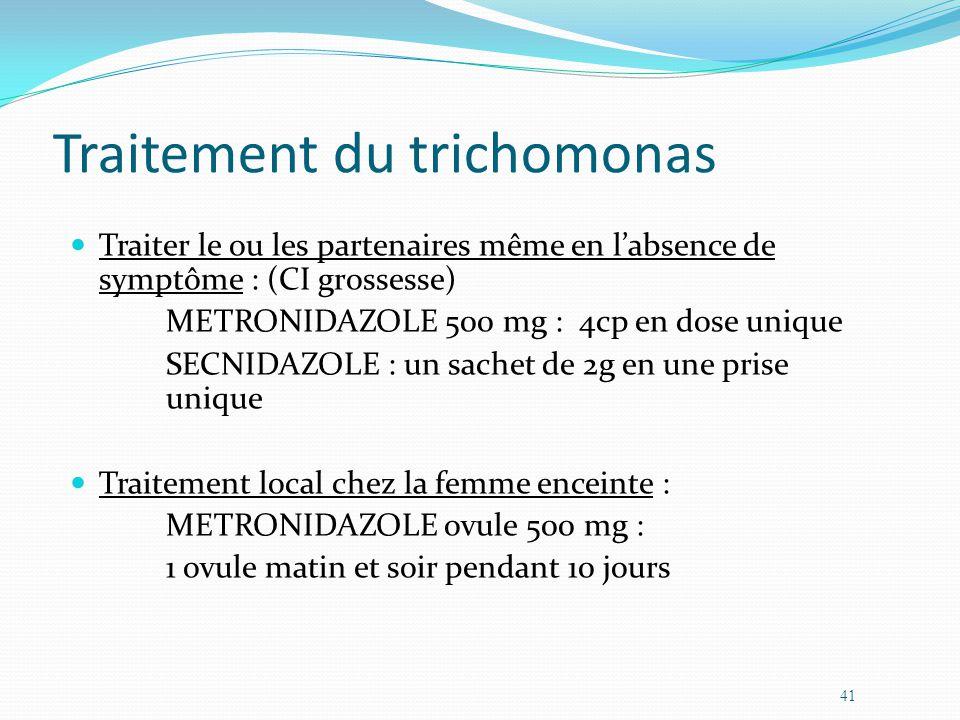 Traitement du trichomonas