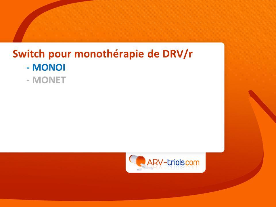 Switch pour monothérapie de DRV/r