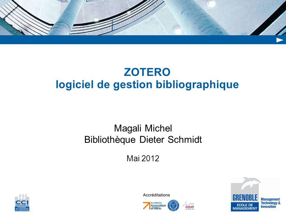 ZOTERO logiciel de gestion bibliographique