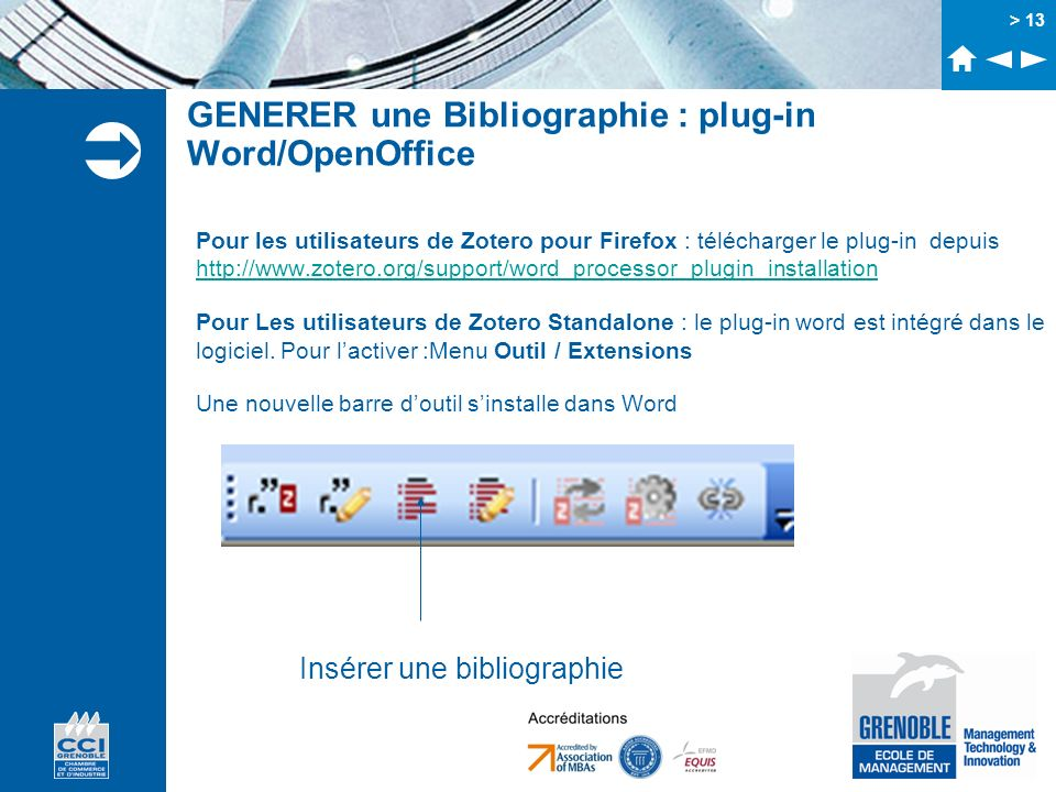 GENERER une Bibliographie : plug-in Word/OpenOffice