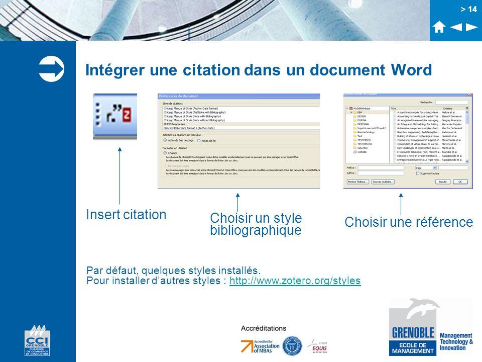 Intégrer une citation dans un document Word