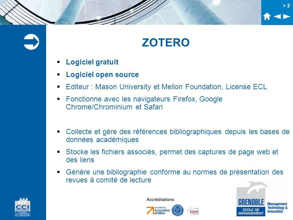 ZOTERO Logiciel gratuit Logiciel open source